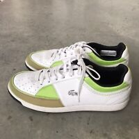 Lacoste Womens Kane Reflective R01 Green White Perforated Sneakers Size 8.5