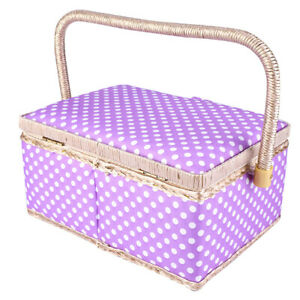 Sewing Storage Box Vintage Sewing Kit Needle Storage Box Organization for Home