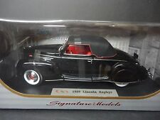 Signature Models LINCOLN ZEPHYR 1939 NEGRO 1/18