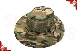 Men's Cool Outdoor Fishing Hiking Outback Vented Summer Sun Hat Cap Wide Brim