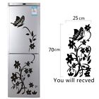 Refrigerator Black Sticker Butterfly Pattern Wall Stickers Home Decoration