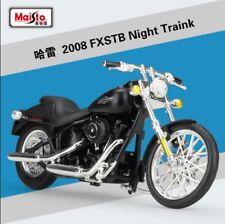 1:18 Maisto Harley Davidson 2008 FXSTB Night Train Bike Motorcycle Model Black