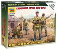Zvezda 4 figuras soviético Unidas 1941-1943 II Guerra Mundial 1:72 Kit