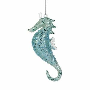 Department 56 Coast to Coast Beaded Seahorse Hanging Ornament 5.5 Inch
