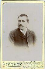 PHOTO Cabinet Guiglon Algérie Constantine un homme pose belles fines moustaches