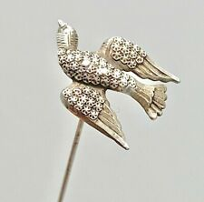 Antique Hatpin Lovely Silver Dove. Symbol of Peace Purity Faith. Collectible