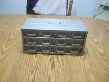vintage metal cabinet with plastic drawers 12 drawer storage bin stackmaster