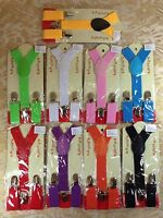 9 COLORS NEW BOYS GIRLS KIDS CLIP-ON Y-Back Elastic 1x Suspenders