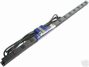 4' 12 Outlet Metal Power Strip Surge Protected 41215BV1