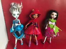 Monster High Lot Of 3 Dolls Threadarella,Snow Bite,Little Dead Riding Wolf