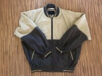 Lacoste Beige Bomber Harrington Casual Track Polyester Jacket Vintage 90s Large