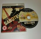 THE SABOTEUR PS3 Used Condition UK PAL Version Game Sony PlayStation 3 RARE