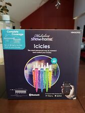 Holiday Show Home Icicles Set of 48 Color-Changing Led Bluetooth App 50' Feet