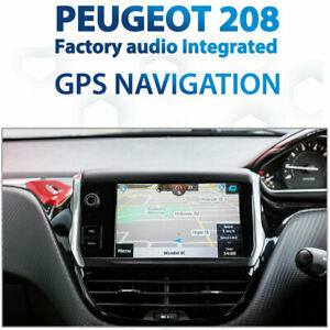 Peugeot 208 2012-2014 GPS Navigation retrofit for factory infotainment