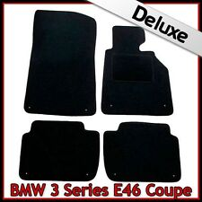 BMW SERIE 3 e46 COUPE 1999-2006 su misura LUSSO 1300g Tappeti Tappetini Auto Nero