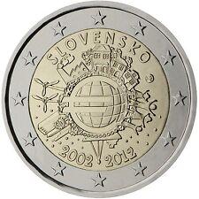 2 € eslovaquia 2012 - 10 J. euro efectivo, STG