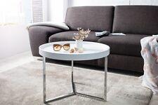 Tavolino da salotto bianco moderno Triton 60 hrom retrò Design Vassoio Tavolo