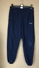 Mens Vintage Adidas Blue Tracksuit Bottoms Sports W32 Medium M - A19