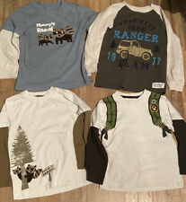 Boys Gymboree And Carter's Long Sleeve Winter Shirt Lot Of 4 Size 5T