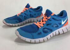 Mens Primo Distressed Nike Free Run 2 Shoes Blue Aqua Orange Size 11