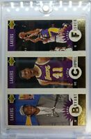 Rare: 1996 96-97 Coll. Choice Gold KOBE BRYANT Rooke RC, CAMPBELL, FISHER #L1
