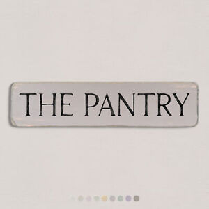 THE PANTRY Vintage Style Wooden Sign. Shabby Chic Retro Home Gift. S2