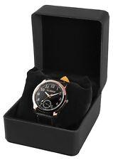 Uhren Box Uhrenverpackung Lederimitat Etui Schwarz mit Kissen Weiße Nat Uhrenbox