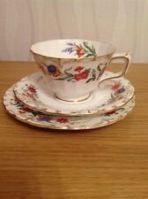 ROYAL CROWN DERBY 'Chatsworth' Cup, Saucer, Plate Trio Excellent Condition c1941