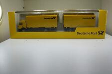 MB Wechselkoffer-Hängerzug Werbemodell von Deutsche Post in OVP (AWM/BB/A 57