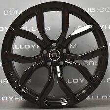 "Genuine Range Rover Sport L494 SVR Style 5083 22"" Inch Black Alloy Wheels X4"