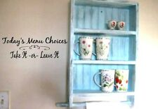 TODAY'S MENU CHOICES Kitchen Dining Vinyl Wall Art Decal Decor Lettering Words