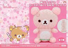 San-X Sakura Rilakkuma Premium Rose Fur Plush Rose Fur Rilakkuma Plush 42cm NEW