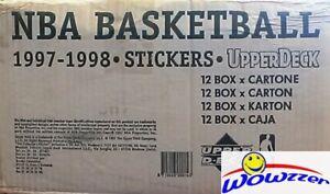 97/98 UD Basketball 12 Box Factory Sealed CASE-7200 Stickers-Michael Jordan,Kobe