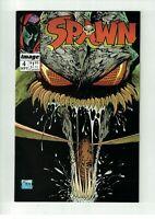 Spawn # 4  Image Comic Book Todd McFarlane Clown Angela  NM  (D947)
