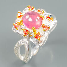 Fine Art Natural Ruby 925 Sterling Silver Ring Size 8.5/R88775
