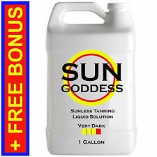 SUN GODDESS - VERY DARK  1 GALLON Spray Tan Solution Sunless Tanning Self Tanner