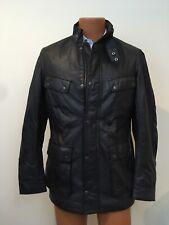 Barbour International Steve McQueen Men's Duke Black Leather Jacket Sz S NWT