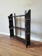 More details for antique arts and crafts c.1890 ecclesiastical style oak wall shelf