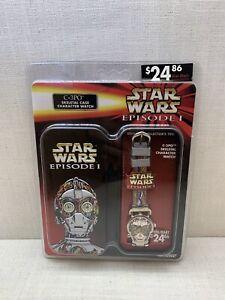 Star Wars Episode 1 C-3PO Skeletal Case W/ Watch New In Box Rare Nelsonic