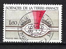 France 1980 Sciences de la Terre n° 2093 oblitéré 1er choix (1)