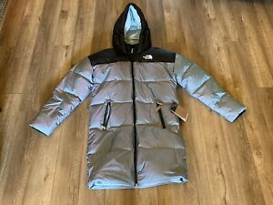 Girls the north face parka 550 down xl long $199 msrp new goose down puffer