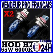 LOT 2 AMPOULE PLASMA HOD H7 55W LAMPE HALOGENE FEU EFFET XENON BLANC 6000K 12V