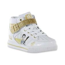 3bdc151d177 Disney Star Wars Rey White   Gold High Top Sneakers - Youth Size 5