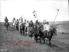 New Art Print of c.1908 Edward Curtis Photo Atsina Indians On War Path 11X17