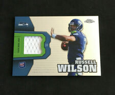 2012 Russell Wilson Topps Chrome Rookie Relics RC Jersey Patch #RR26