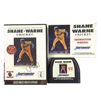 SEGA Mega Drive Game Shane Warne Cricket V2 Complete With Manual