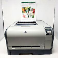 HP Color LaserJet CP1515N Color Laser Printer Tested Working Demo Print Pictured