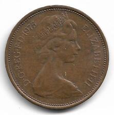 Britain Queen Elizabeth II Two New Pence Coin - 1975