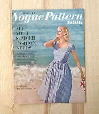 Vintage Vogue Pattern Book June - July 1960