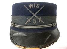 Span-Am War US Army M1895 Enlisted Forage Cap Kepi Hat - Wisconsin Volunteers #1